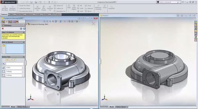 Chia Sẻ mô hình 3D với công cụ Defeature trong SolidWorks